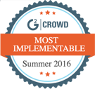 Voted by G2 crowd most implementable 2016
