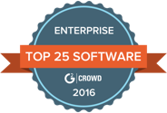 top 25 enterprise software voted by G2 crowd