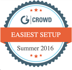 Voted by G2 Crowd easiest setup